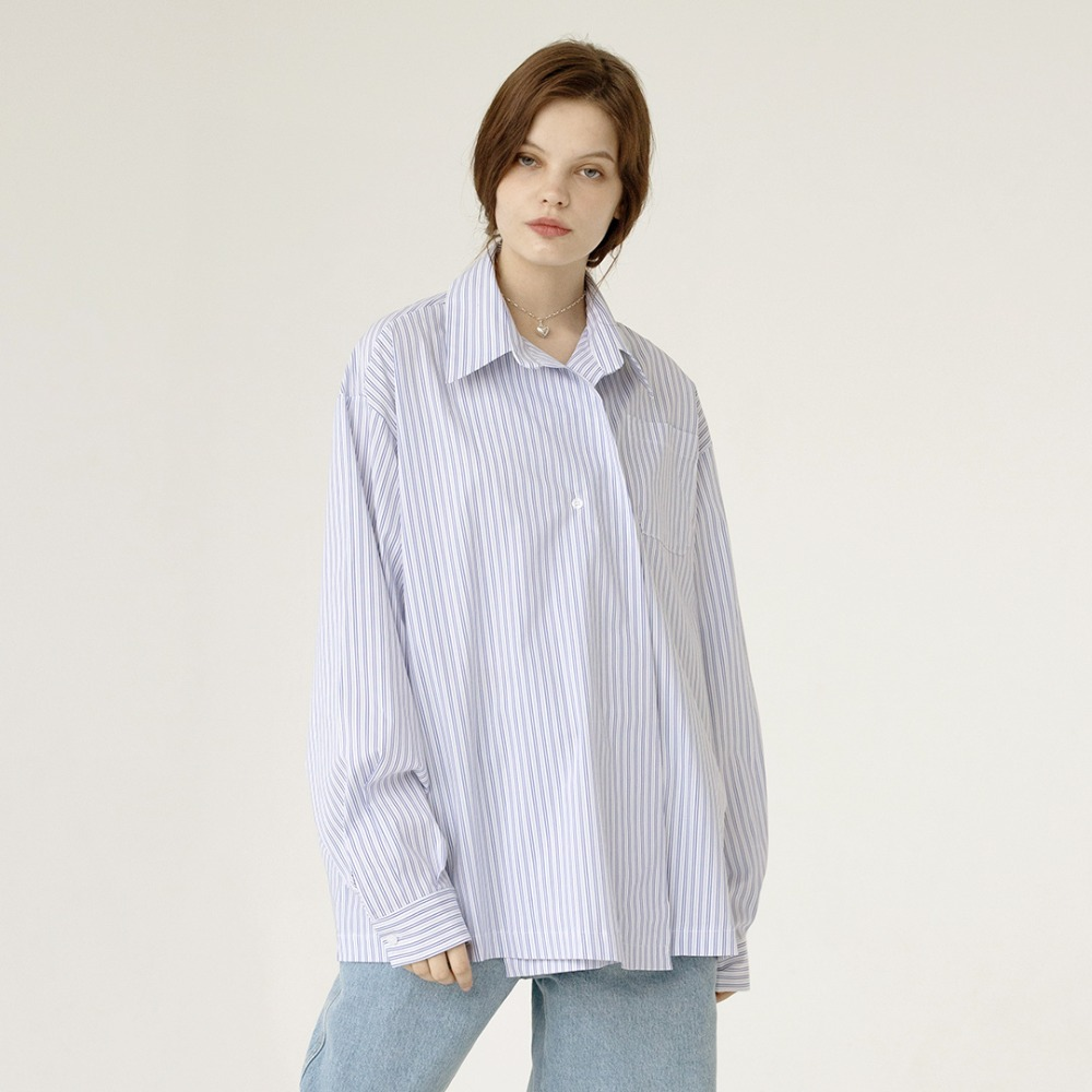 one button oversized shirts  AST201002-SK