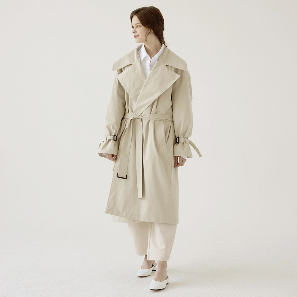 over-sized long trench coat ACT201001-BG